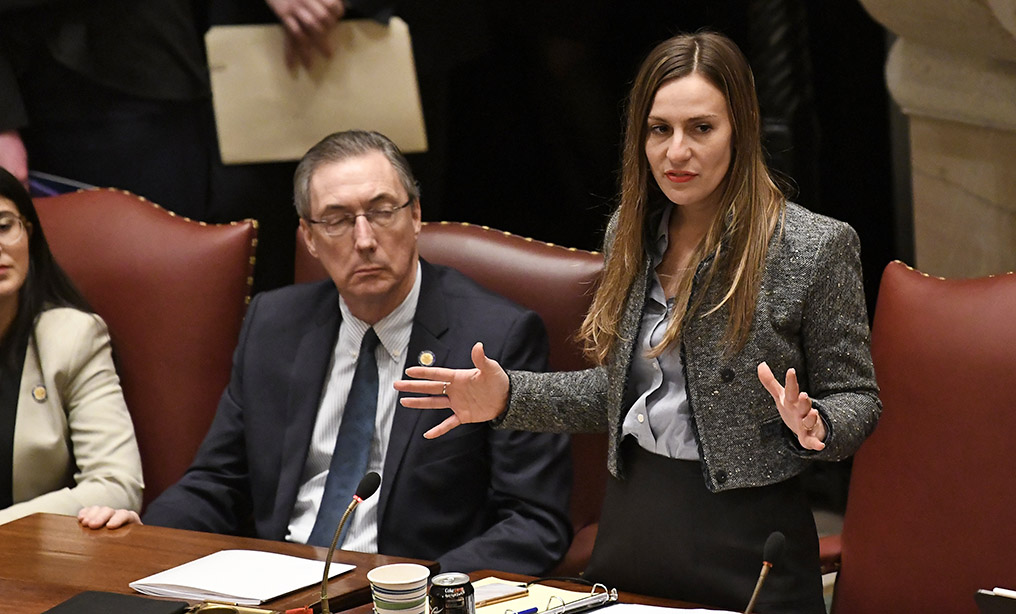 New York Sen. Alessandra Biaggi, D-Bronx. Photo: Hans Pennink/AP