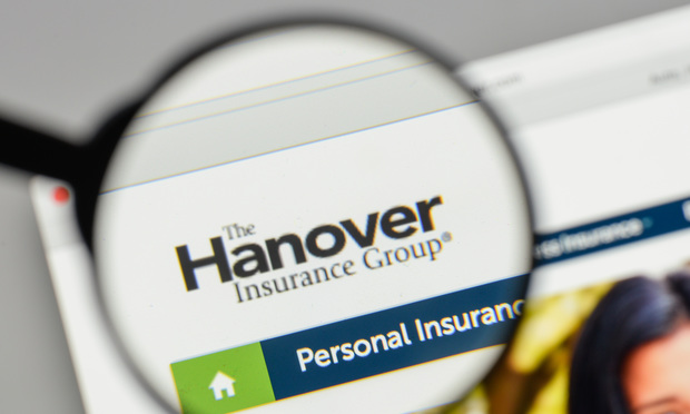 Hanover Insurance Group logo on the website homepage