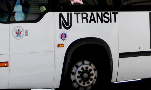 New Jersey Transit bus.