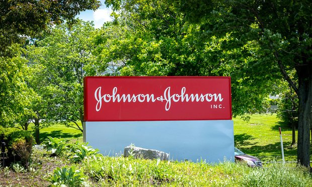 Markham, Ontario, Canada - June 14, 2019: Sign of Johnson & Johnson Inc. Canada in Markham. Johnson & Johnson Inc. is an American medical devices, pharmaceutical and packaged goods company