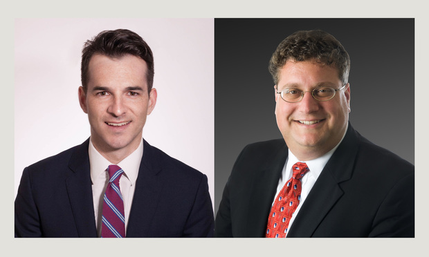 From left: Timothy A. Carroll and Anthony L. Miscioscia of White and Williams.