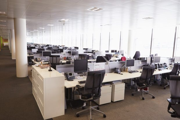Large office space without workers