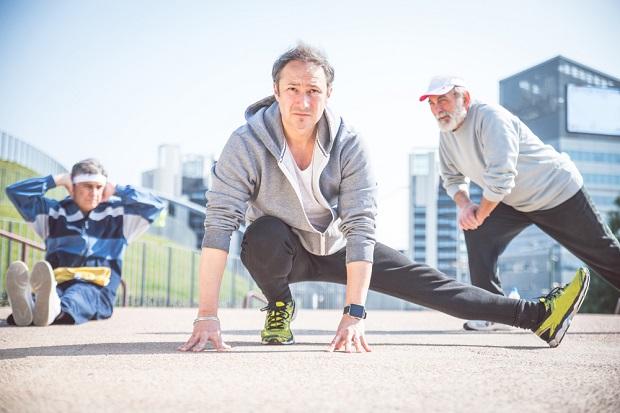 older men working out