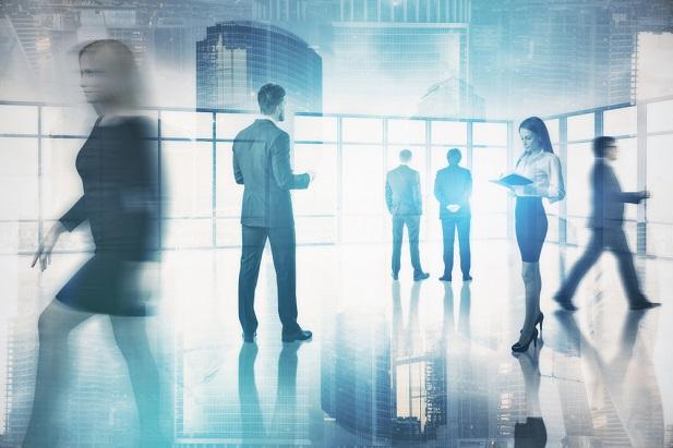 Men and women in office