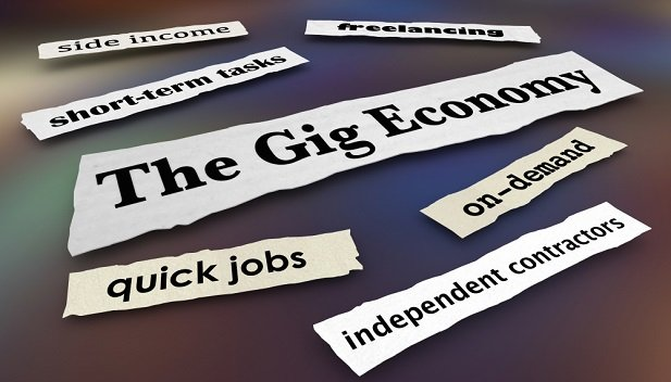 word collage about gig jobs