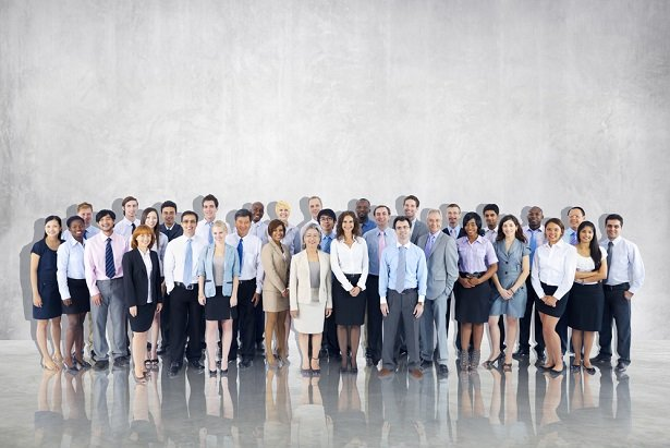 employees in a group photo