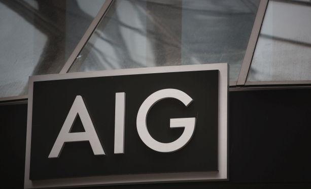 AIG building sign