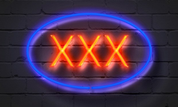 XXX-rated neon sign