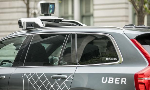 Self-driving Uber car
