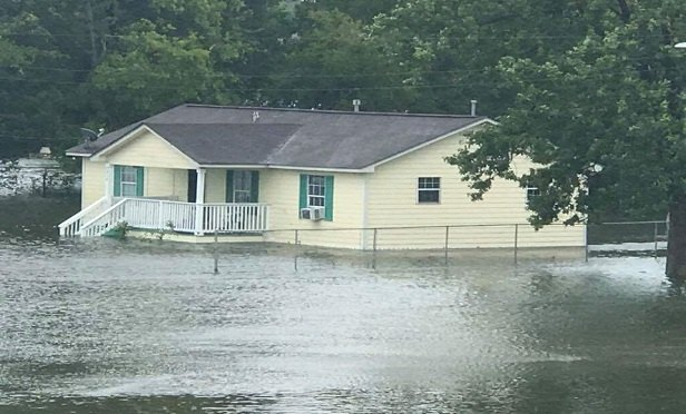 Flooded home.