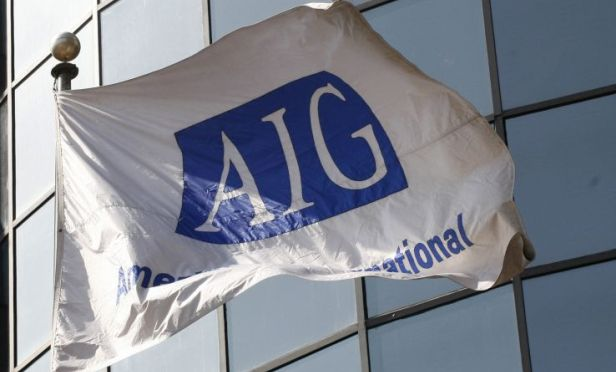 AIG insurance corporate flag
