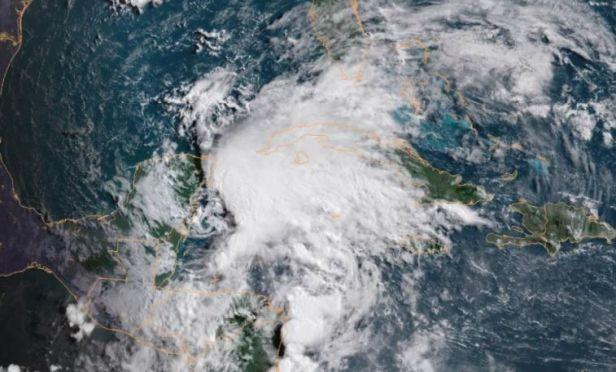 Storm Alberto satellite image