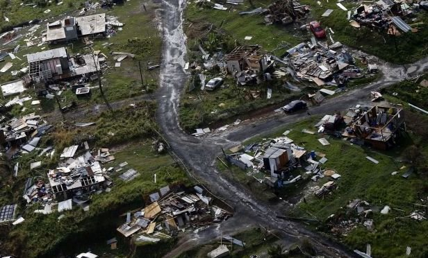 Hurricane Maria damage in Puerto Rico