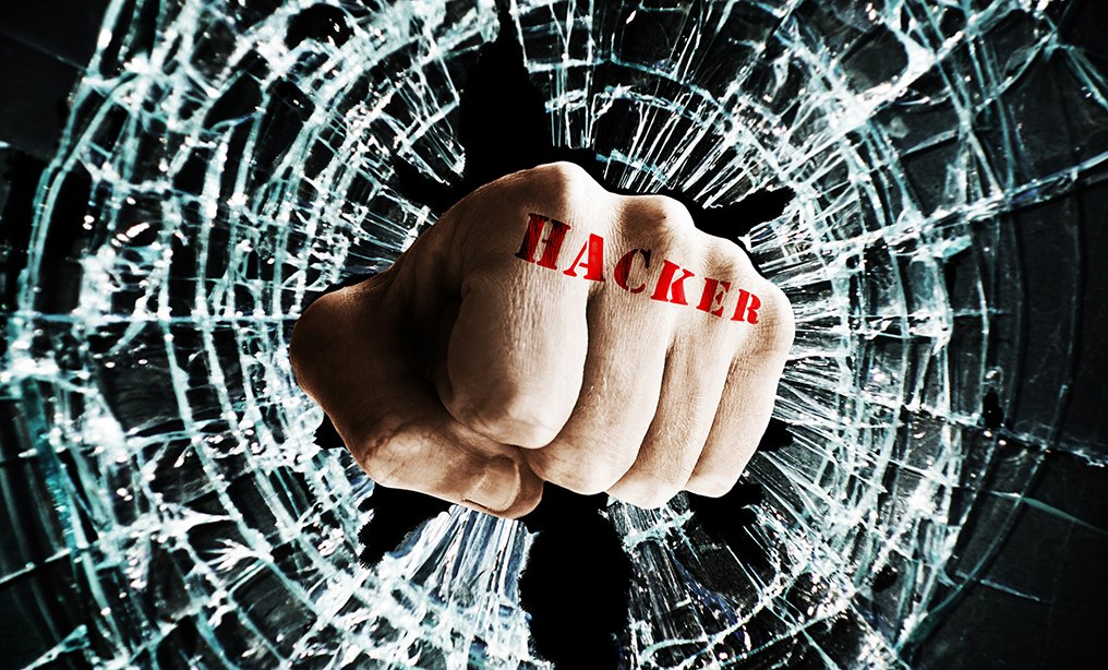 hacker shatters glass