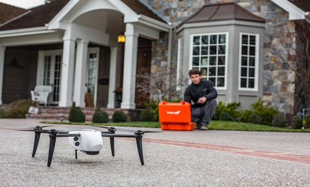 Drone technology has been on the radar of the insurance industry for a few years, as a new solution for evaluating damage and managing roof claims. (Photo: Kespry)
