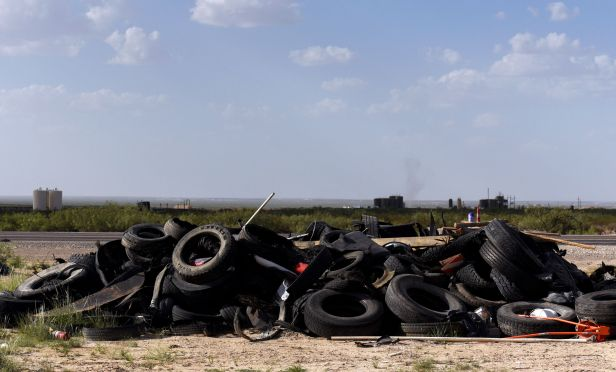 Pile of truck tires