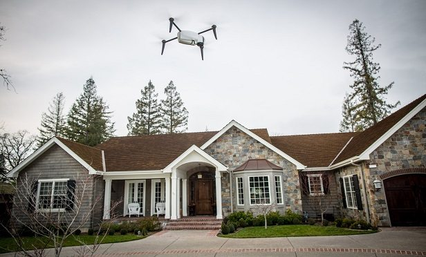 Using drones for roof assessments.