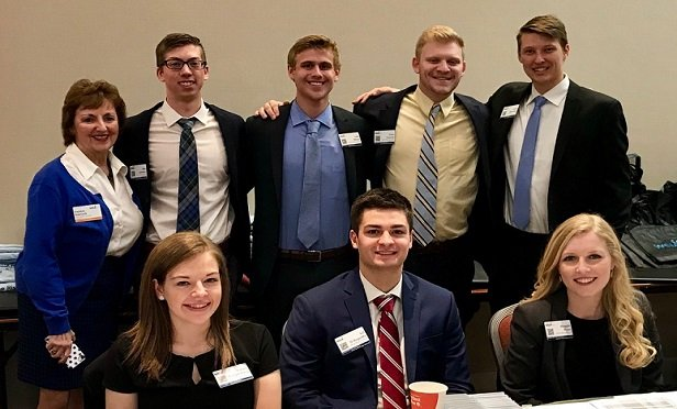 Members of WSIA's Career Development Committee talk with young people about the variety and availability of jobs in the E&S insurance sector. (Photo provided by WSIA)