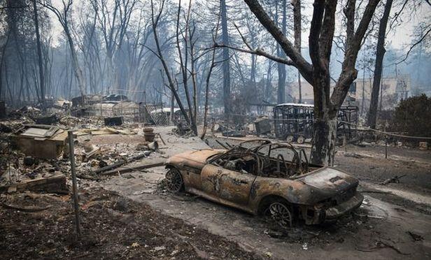 Wildfire damage