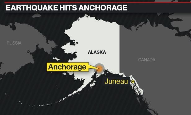 Earthquake hits Anchorage, Alaska