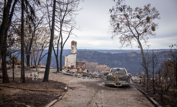 A home destroyed by the Camp Fire in Paradise, California.