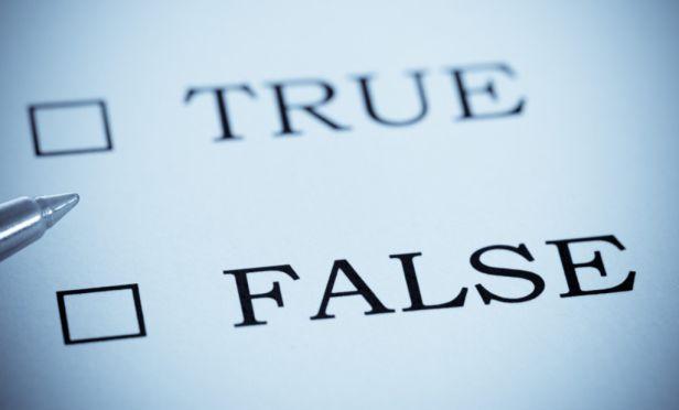 True or False statement