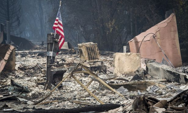 Home destroyed by wildfire.