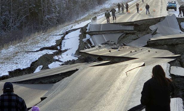 Burckle roadway north of Anchorage, Alaska.