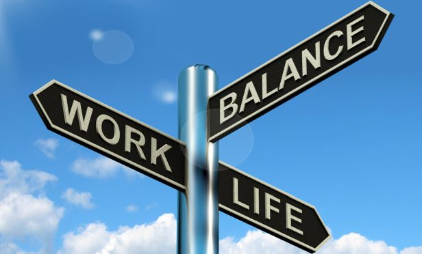 Work-life-balance road sign