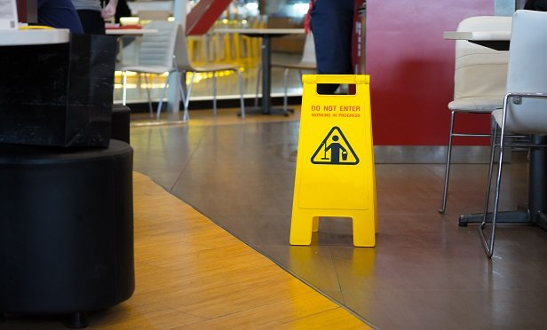 While sharp objects might cause the most reported claims, slips and falls resulted in 4.5 times more in paid losses. Industry data over the past ten years shows an average of 48.3% to 50% loss ratio for workers' compensation restaurant claims, says AmTrust. (Photo: Shutterstock)