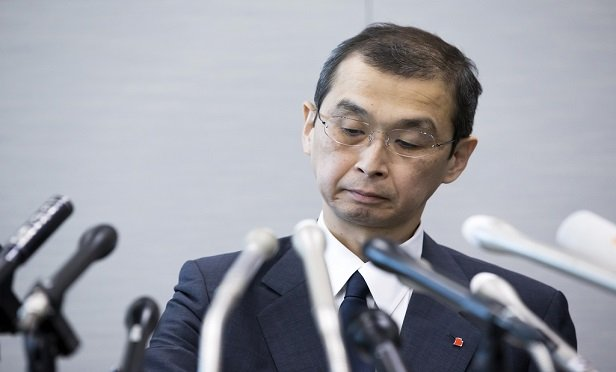 Shigehisa Takada, chairman and chief executive officer of Takata Corp., attends a news conference in Tokyo, Japan, on Monday, June 26, 2017. Takata filed for bankruptcy protection in the biggest corporate failure in postwar Japanese manufacturing, after liabilities from millions of recalled air bags became too much for the firm to bear. (Tomohiro Ohsumi/Bloomberg)