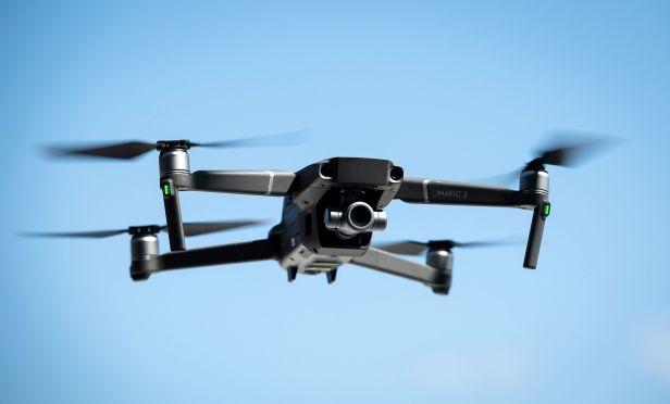 Drone flies over the Brooklyn Navy Yard .