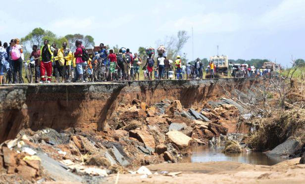 cyclone Idai damage
