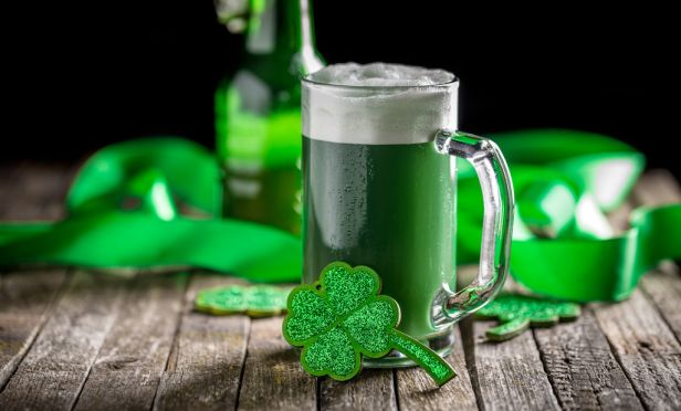 St. Patrick's Day reminder not to drink and drive.