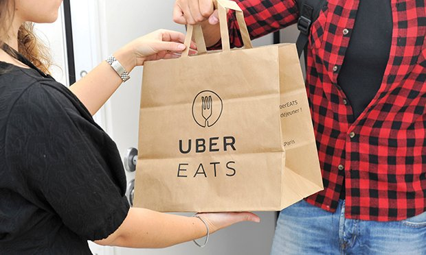 Uber Eats delivery.