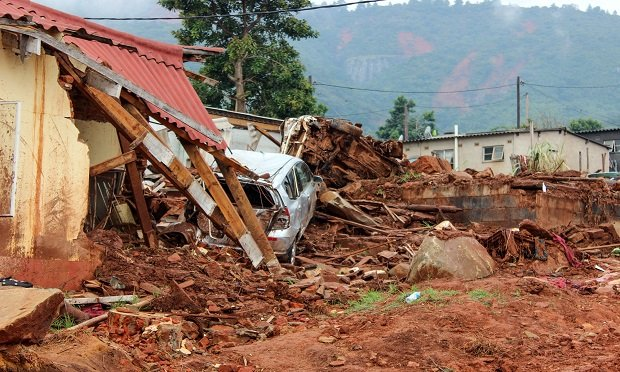 Intense Tropical Cyclone Idai was one of the worst African cyclones on record. The event caused catastrophic damage in Mozambique, Zimbabwe (seen here), and Malawi, leaving more than 1,000 people dead and thousands more missing. (Photo: Bloomberg)