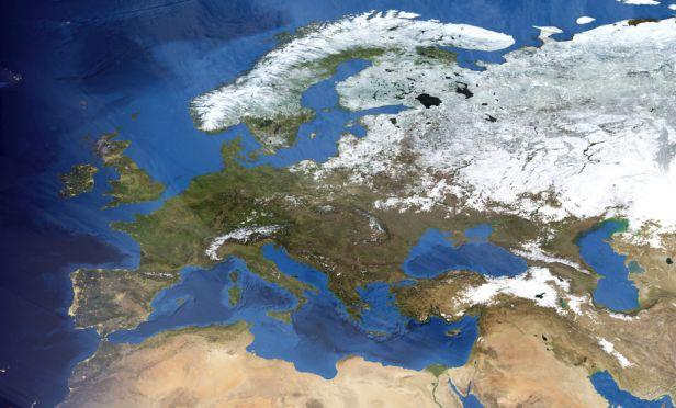 Satellite image of Europe