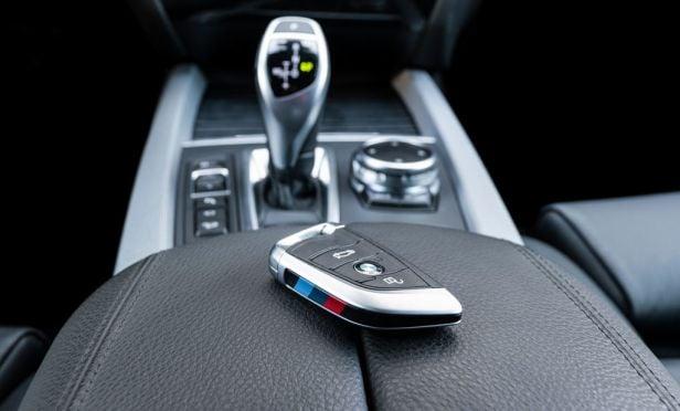 Key or fob left inside vehicle.