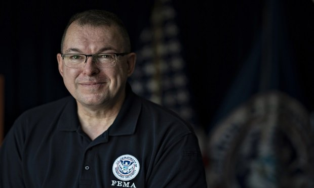 Peter Gaynor, acting administrator for the Federal Emergency Management Agency (FEMA), stands for a photograph following an interview in Washington, D.C., U.S., on Fri., April 26, 2019. (Photographer: Melissa Lyttle/Bloomberg)