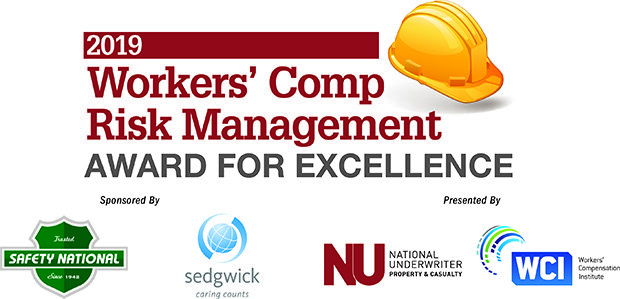 Logos for NUPC, Sedgwick, Safety National and Workers' Comp Institute