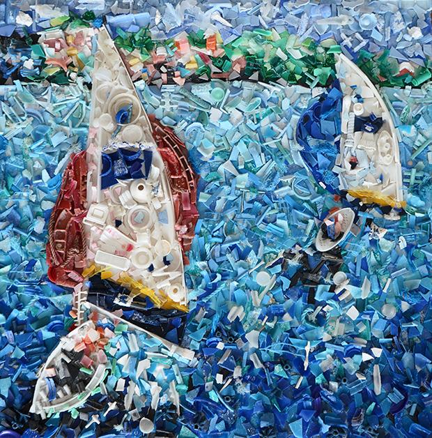 Sculpture-made-from-trash-in-Bermuda