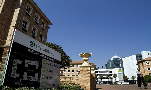 A sign makes the entrance to Old Mutual Plc's company headquarters in Johannesburg, South Africa, on Monday, Aug. 23, 2010. HSBC Holdings Plc, Europe's largest bank, is in exclusive talks to buy a controlling stake in Nedbank Group Ltd., the South African banking unit of Old Mutual Plc, to benefit from business ties between Asia and Africa. (Photographer: Nadine Hutton/Bloomberg)