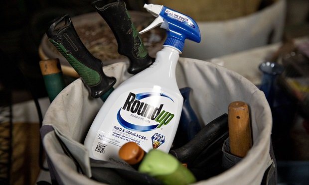 A bottle of Bayer AG Roundup brand weedkiller is arranged for a photograph in a garden shed in Princeton, Illinois, U.S., on Thursday, March 28, 2019. (Photo: Daniel Acker/Bloomberg)