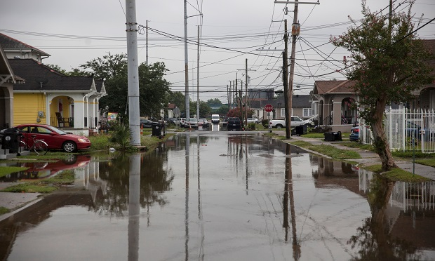 S Telemachus Street in New Orleans is flooded after flash floods struck the area early on July 10, 2019.  (Photo: Seth Herald/AFP/Getty Images/Bloomberg)