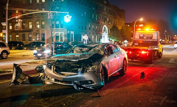 Accidents can happen at any time, anywhere, adding logistical challenges such as off-hours towing, repair shop coordination and creating a need for vehicle storage, all of which contribute to added claims cost and time. (Credit: Photo Spirit/Shutterstock)