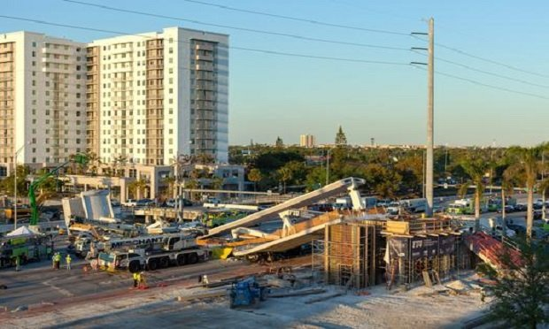 Newly constructed bridge collapsed near Florida International University. (Photo: pleasecat/Shutterstock)