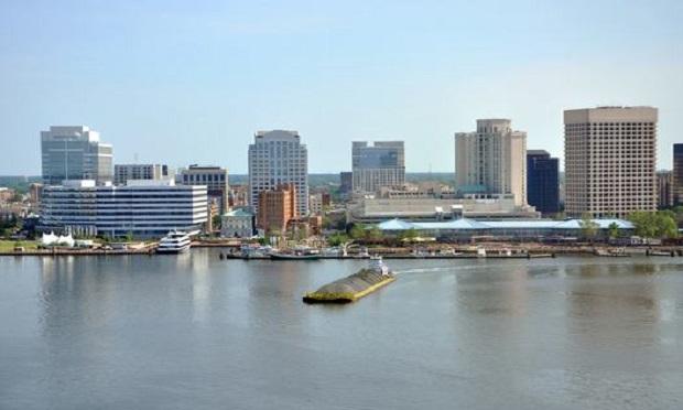 Norfolk city skyline and Elizabeth River, Virginia, USA. (Photo: Shutterstock)