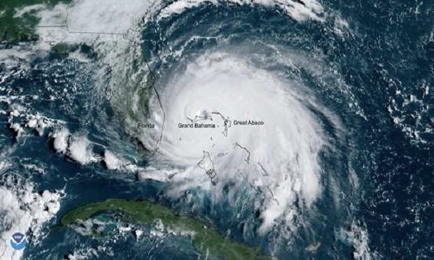 Catastrophic Hurricane Dorian slowed to a crawl over Grand Bahama Island overnight and into Labor Day. On Monday, Sept. 2, 2019, GOES East captured a view of the Category 5 storm over Grand Bahama. (Photo: NOAA)
