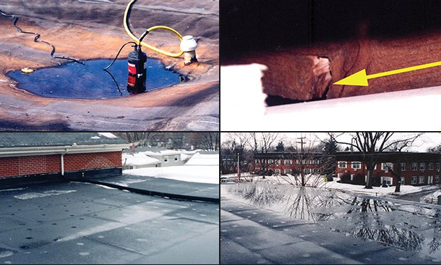 Flat roof failures.