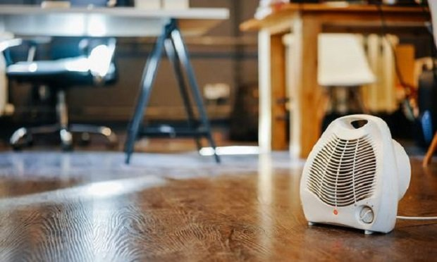 A space heater in an office. (Photo: Dmitry Galaganov/Shutterstock)